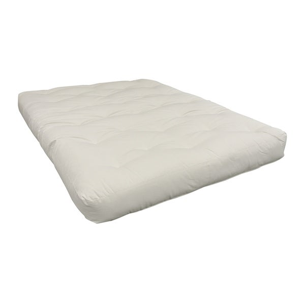 natural all cotton full 4 inch futon mattress natural all cotton full 4 inch futon mattress   free shipping      rh   overstock