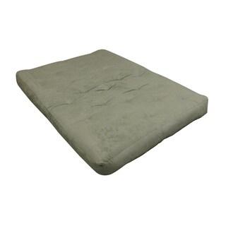 "9"" Triple Foam And Cotton King Sage Microfiber Futon Mattress"