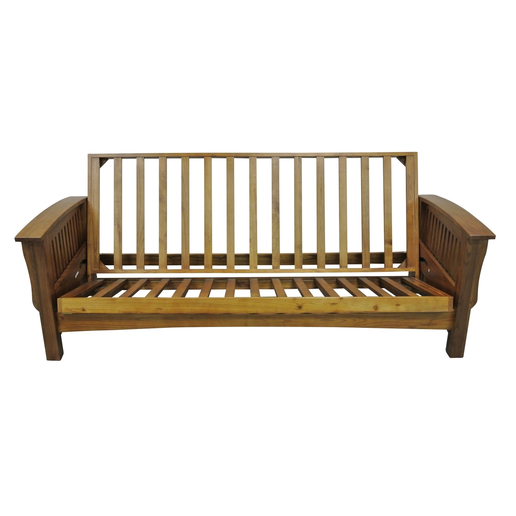 Manhattan Cherry-oak-finished Oakwood Queen-size Futon Fr...