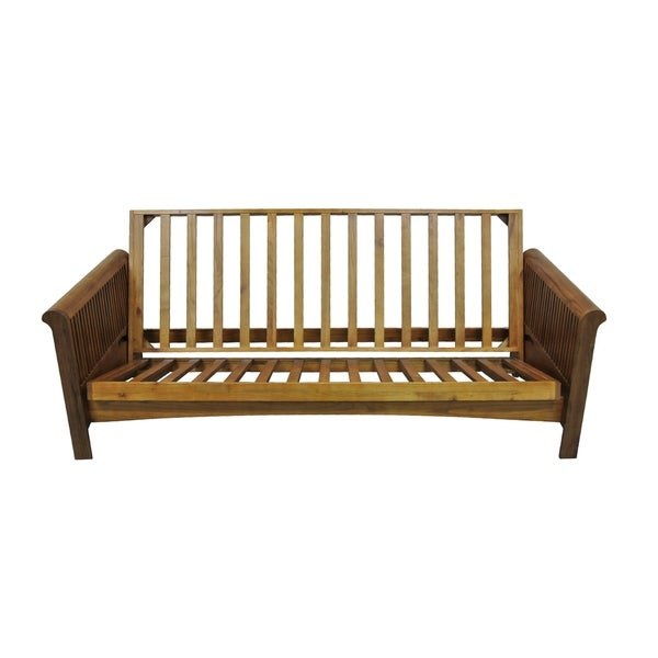 Portland Cherry Oak Queen Futon Frame