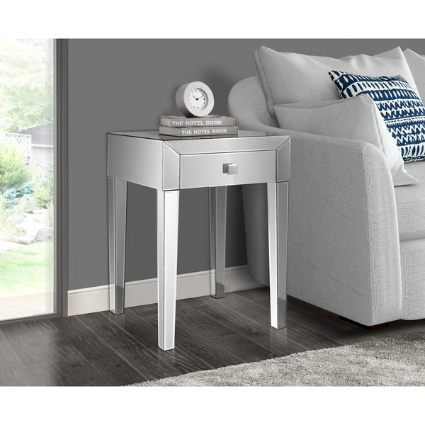 Gallerie Decor Reflections One Drawer Side Table