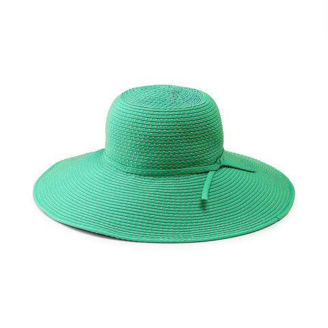 San Diego Hat Company/Womens Core/Ribbon brain w/ ticking -turquoise