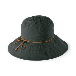 San Diego Hat Company/Womens Core/Floppy, suede tie - black