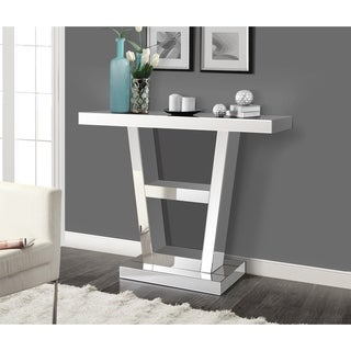 Gallerie Decor Reflections Mirrored V Shape Console Table