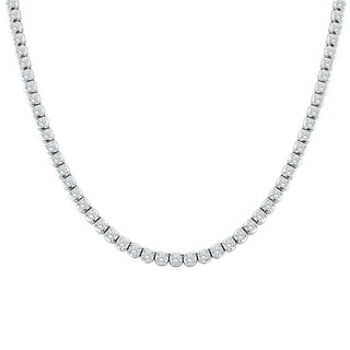 Auriya 14k Gold 9ct TDW Round Diamond Tennis Necklace (H-I, SI1-SI2) - White H-I