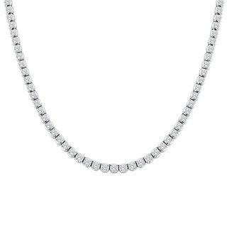 Auriya 14k Gold 9ct TDW Round Diamond Tennis Necklace (H-I, SI1-SI2) - White H-I