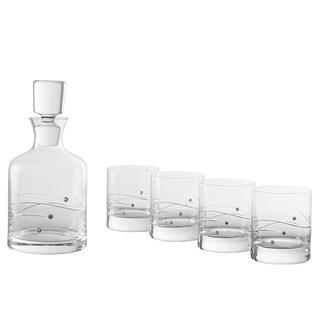 Barski European Handmade Glass 26oz. Whiskey Decanter Set