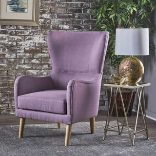 Saunder Winged Fabric Club Chair by Christopher Knight Home