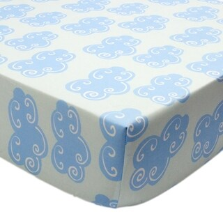 Tree Tops Clouds Fitted Sheet