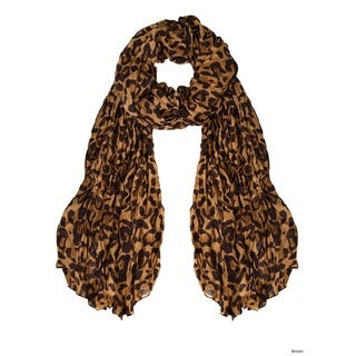 Link to Peach Couture Trendy Women's Leopard Animal Print Crinkle Scarf Wrap Similar Items in Scarves & Wraps