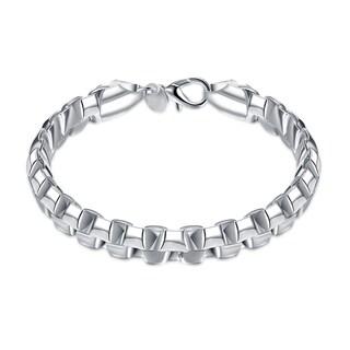 Hakbaho Jewelry Sterling Silver Sleek Venetian Link Design Bracelet