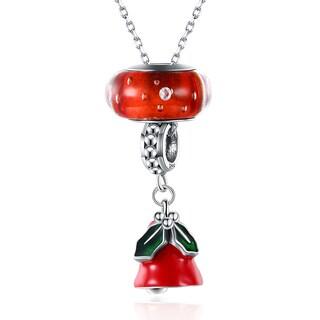 Hakbaho Jewelry .925 Sterling Silver Enamel Tree Branch Drop Necklace