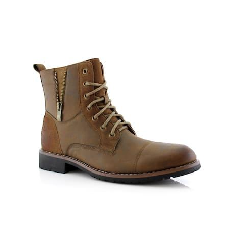 Ferro Aldo Reid MFA808561B Men's Combat Boots For Work or Casual Wear