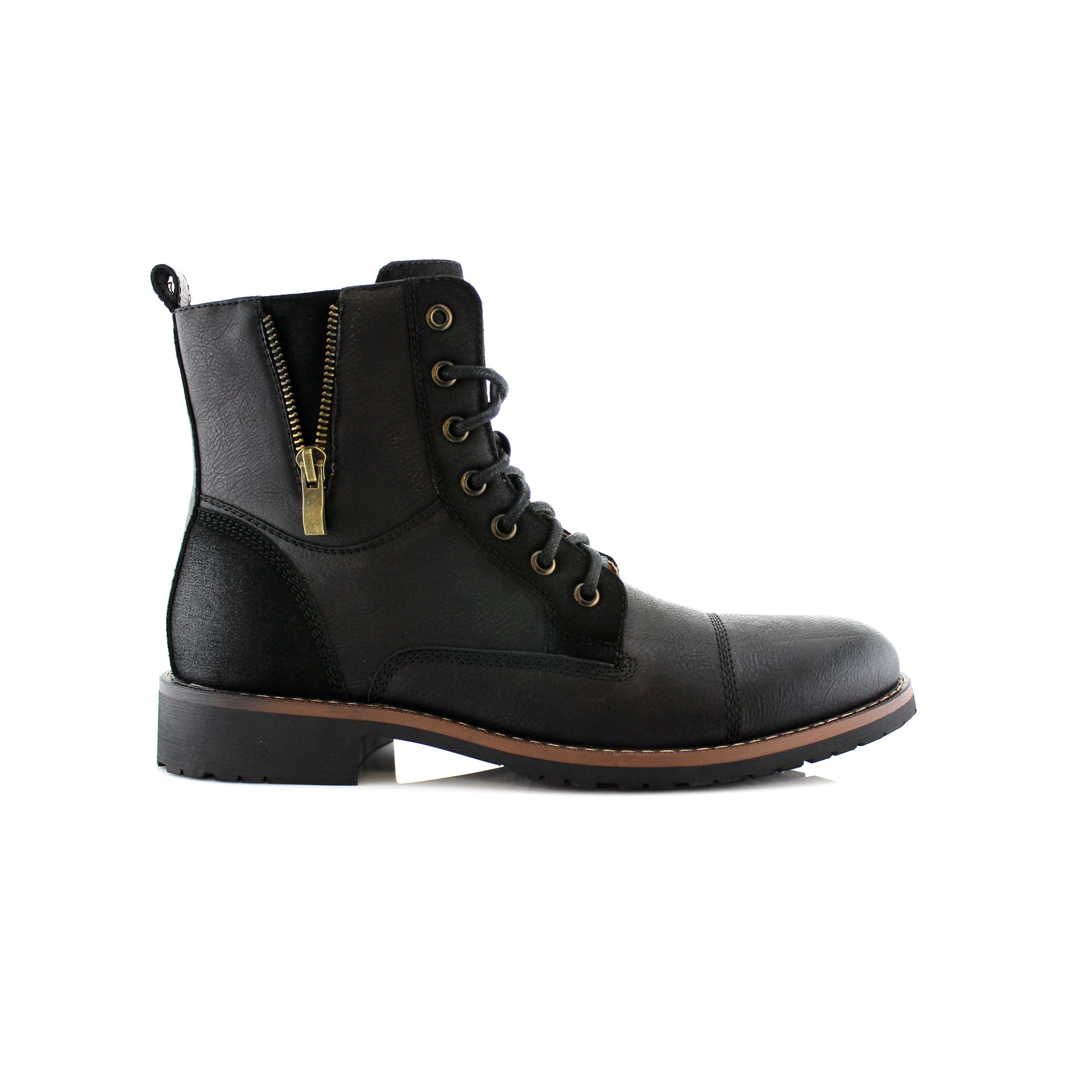 82297a3a7d Shop Ferro Aldo Reid MFA808561B Men's Combat Boots For Work or Casual Wear  - Free Shipping Today - Overstock - 17743672