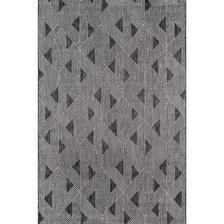 Novogratz by Momeni Sardinia Indoor/Outdoor Grey Triangle Pattern Flatweave Rug (See Available Sizes)