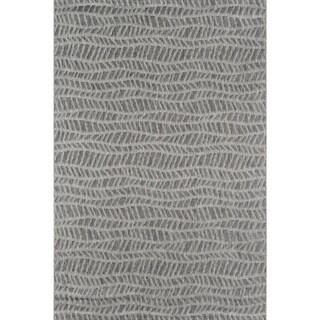 Novogratz by Momeni Emilia Indoor/ Outdoor Grey Wavy Pattern Flatweave Rug (See Available Sizes)