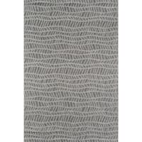 Novogratz by Momeni Emilia Indoor/ Outdoor Grey Wavy Pattern Flatweave Rug (See Available Sizes)