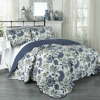 Traditions by Waverly Maldives 3-piece King Size Quilt Collection (As Is Item)