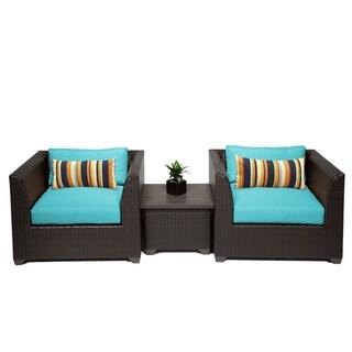 Meridian 3 Piece Outdoor Patio Wicker Lounge Set