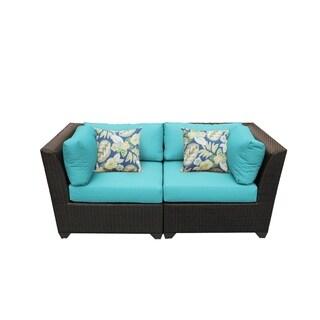 Meridian 2 Piece Outdoor Patio Wicker Lounge Set