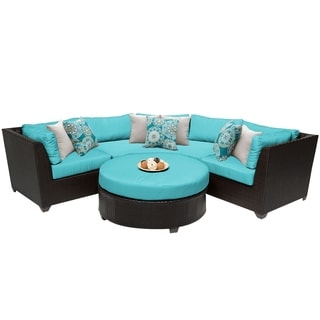 Meridian 4 Piece Outdoor Patio Wicker Sectional with Coffee Table