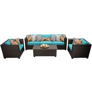 Meridian 6 Piece Outdoor Patio Wicker Sofa and Arm Chair Set
