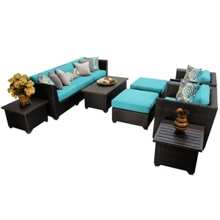Meridian 10 Piece Outdoor Patio Wicker Lounge Set