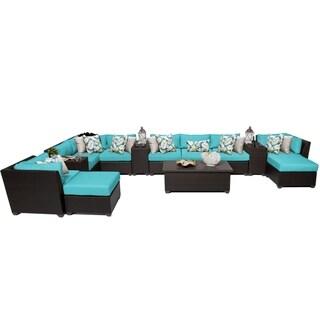 Meridian 14 Piece Outdoor Patio Wicker Lounge Set