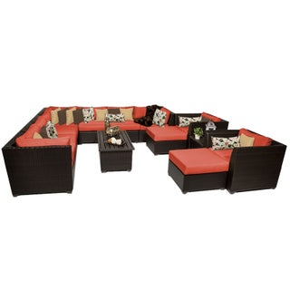 Meridian 13 Piece Outdoor Patio Wicker Lounge Set (More options available)