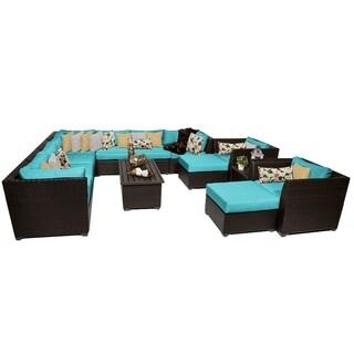 Meridian 13 Piece Outdoor Patio Wicker Lounge Set
