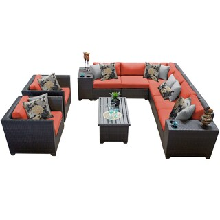 Meridian 11 Piece Outdoor Patio Wicker Lounge Set (More options available)