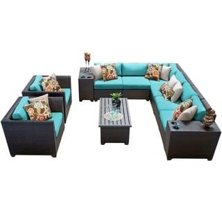 Meridian 11 Piece Outdoor Patio Wicker Lounge Set