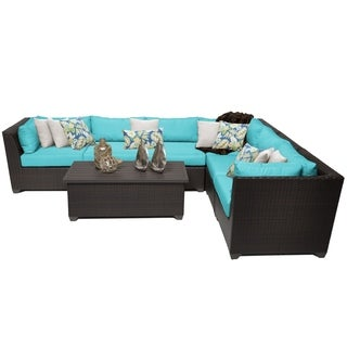 Meridian 7 Piece Outdoor Patio Wicker Sectional with Storage Table