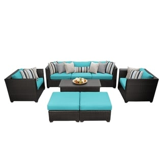 Meridian 8 Piece Outdoor Patio Wicker Lounge Set