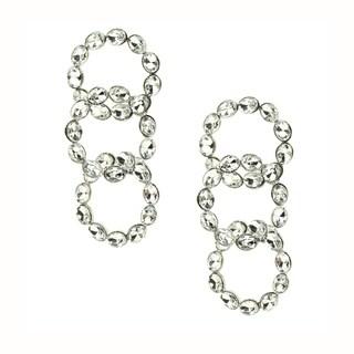 Eye Candy LA 1 inch Looped Cubic Zirconium Stone Earrings