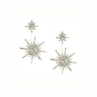 Eye Candy LA 1 inch Starburst Cubic Zirconium Stone Earrings