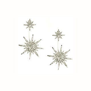 Eye Candy LA 1 inch Starburst Cubic Zirconium Stone Earrings