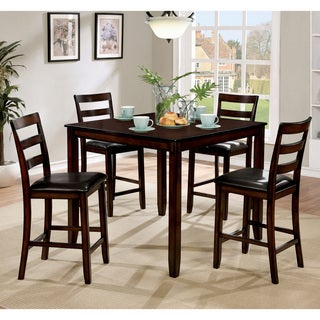 Furniture of America Seralin Contemporary 5-piece Leatherette Counter Height Set