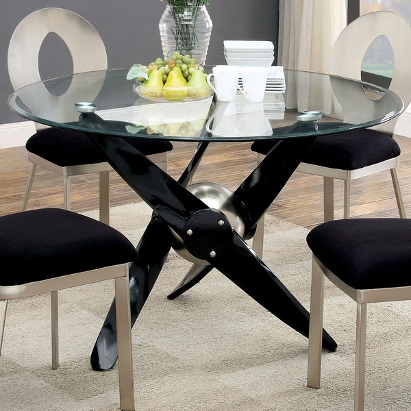 Shop Gene Contemporary Black Round 48-inch Dining Table By