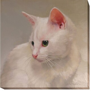 White Kitten by Diane Hoeptner Gallery-Wrapped Canvas Giclee Art