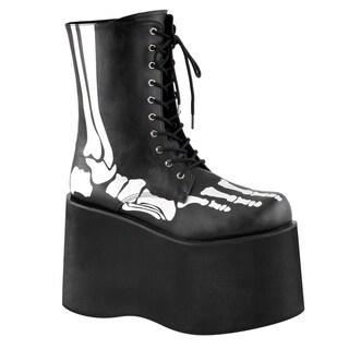 Funtasma MONSTER-10XRAY Men's Front Lace-Up Mid-Calf Boot w/ Xray print