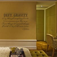 Defy Gravity Wall Decal Wicked Musical 14 x 22 Wall Vinyl