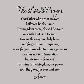 Christian Lord's Prayer Wall Decal Mural Sticker DIY Wall Vinyl