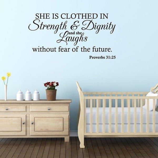 Dignity Wall: Shop Proverbs 31:25 She Is Clothed In Strength And Dignity