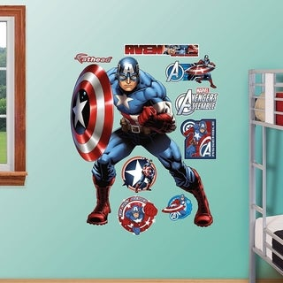 Fathead Captain America-Avengers Assemble Real Big Decal Wall Vinyl