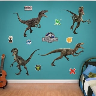 Fathead Raptor Collection-Jurassic World Real Decals Wall Vinyl