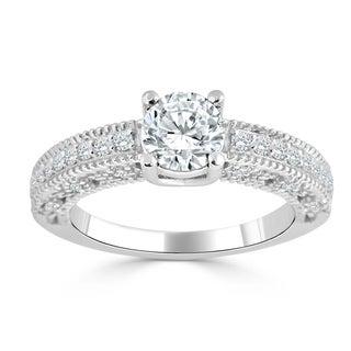Auriya 14k Gold 1ct TDW Diamond Engagement Ring (H-I, I1-I2) - White H-I