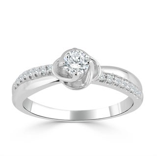 Auriya 14k Gold 1/3ct TDW Diamond Engagement Ring (H-I, I1-I2) - White H-I