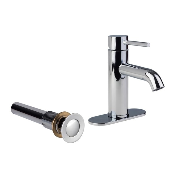 Shop European Single Post Bathroom Faucet With Standard Sink Drain And Deck Plate Chrome