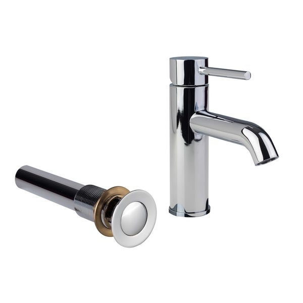 Shop European Single Post Bathroom Faucet with Standard Sink Drain ...